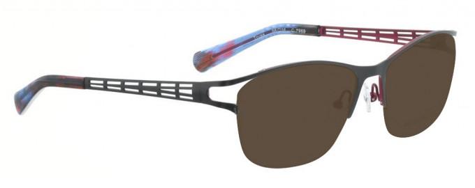 Bellinger TRUSS-7969 Sunglasses in Matt Grey/Aubergine