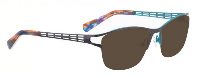 Bellinger TRUSS-6840 Sunglasses in Dark Purple/Blue