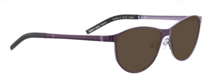 Bellinger SANDLAU-6-6868 Sunglasses in Dark Purple Pearl