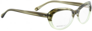 Entourage of 7 LUCY Glasses in Green Crystal
