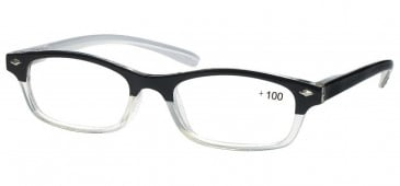 SFE Ready-Made Reading Glasses in Black/Crystal