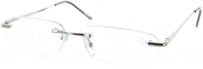 SFE 9313 Ready-made Reading Glasses in Shiny Silver