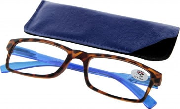 SFE 9328 Ready-made Reading Glasses in Blue/Tortoiseshell