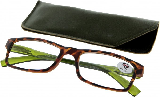 SFE 9328 Ready-made Reading Glasses in Green/Tortoiseshell
