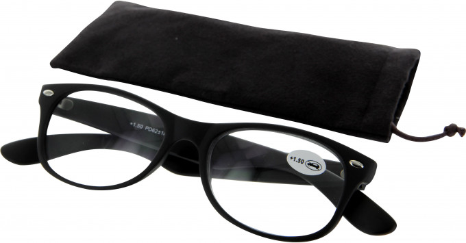 SFE 9330 Ready-made Reading Glasses in Matt Black