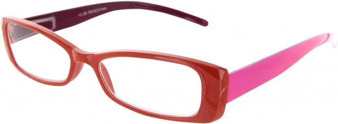 SFE 9331 Ready-made Reading Glasses in Orange/Pink