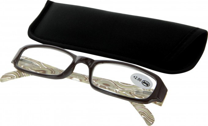 SFE 9338 Ready-made Reading Glasses in Brown