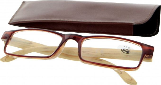SFE 9342 Ready-made Reading Glasses in Light Brown