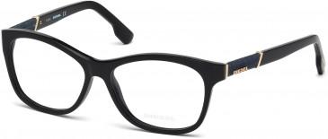 Diesel DL5085 Glasses in Shiny Black