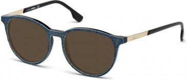 Diesel DL5117 Sunglasses in Matt Black