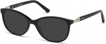 Swarovski SK5122 Sunglasses in Shiny Black