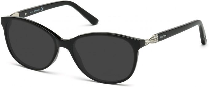 Swarovski SK5122 Sunglasses in Shiny Black/Smoke