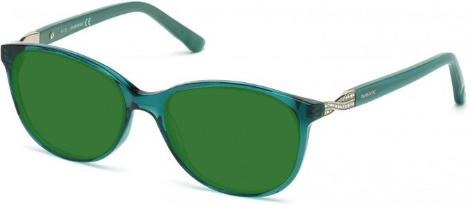 Swarovski SK5122 Sunglasses in Shiny Dark Green