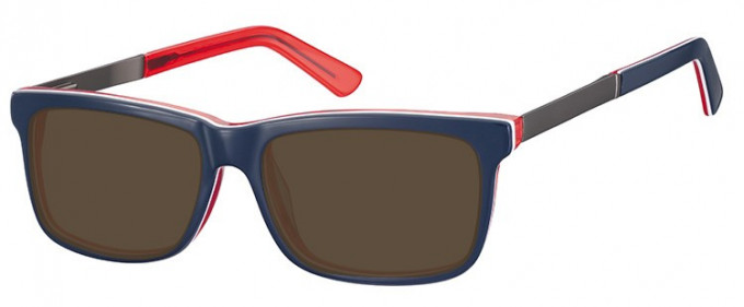 SFE-9366 Sunglasses in Blue/Red