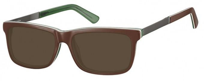 SFE-9366 Sunglasses in Brown/Green