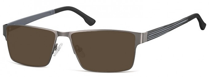 SFE-9352 Sunglasses in Light Gunmetal