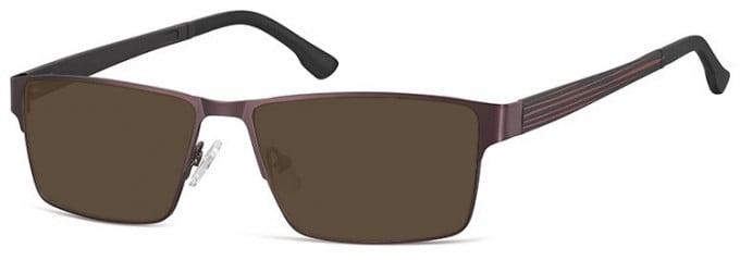 SFE-9352 Sunglasses in Dark Brown