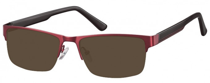 SFE-9355 Sunglasses in Burgundy