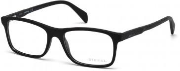 Diesel DL5170 Glasses in Shiny Black