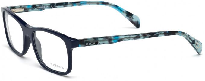 Diesel DL5170 Glasses in Shiny Blue