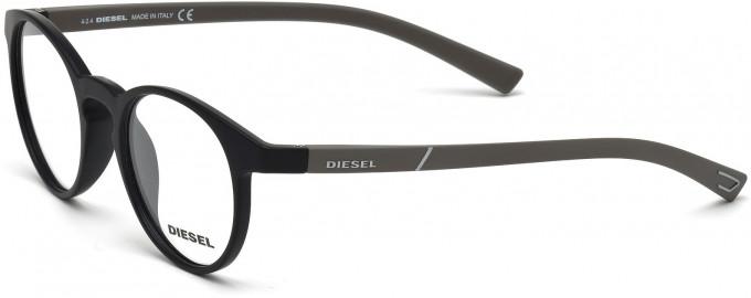 Diesel DL5177 Sunglasses in Matt Black