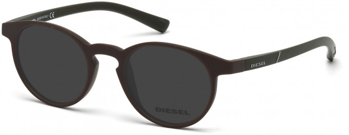 Diesel DL5177 Sunglasses in Matt Dark Brown