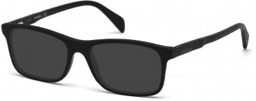 Diesel DL5170 Sunglasses in Shiny Black