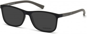 Diesel DL5176 Sunglasses in Matt Black