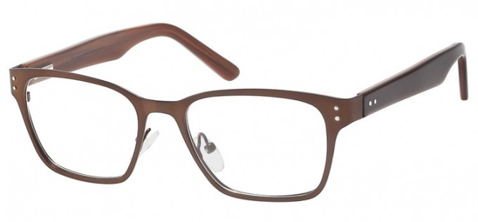 SFE Collection Metal Glasses in Dark Brown
