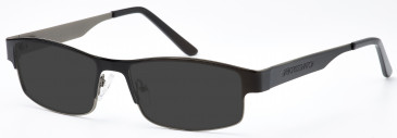 Crosshatch Metal Prescription Sunglasses