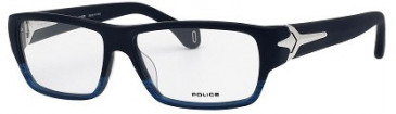Police V1781M Glasses in Blue Matt Striped
