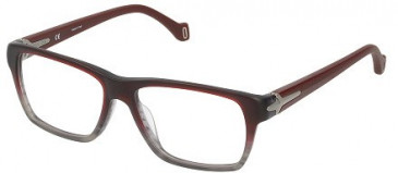 Police V1891M Glasses in Semi Matt Bordeaux/Grey