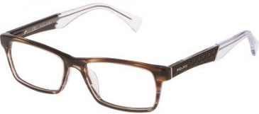 Police V1919E Glasses in Shiny Streaked Brown