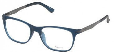 Police V1974 Glasses in Semi-Matt Transparent Blue