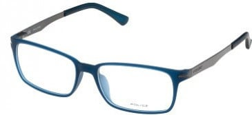 Police V1975 Glasses in Semi-Matt Transparent Blue