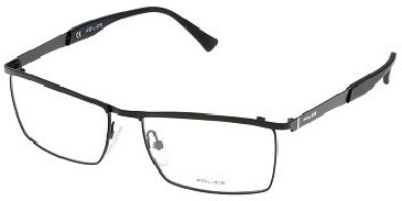 Police V8972 Glasses in Semi-Matt Black