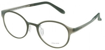 Police VPL010 Glasses in Semi Matt Transparent Green