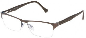 Police VPL040 Glasses in Matt Antique Brown