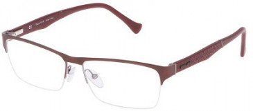 Police VPL040 Glasses in Matt Antique Bordeaux