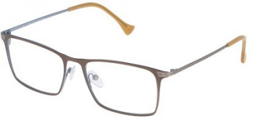 Police VPL042 Glasses in Matt Antique Brown