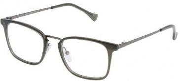 Police VPL045 Glasses in Shiny Transparent Grey