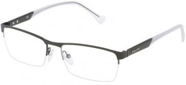 Police VPL049 Glasses in Semi-Matt Black