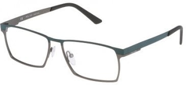 Police VPL050 Glasses in Semi-Matt Gunmetal
