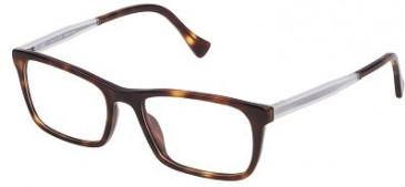 Police VPL262N Glasses in Yellow Havana/Dark/Brown
