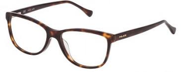 Police VPL285 Glasses in Yellow Havana/Dark/Brown
