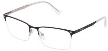 Police VPL288N Glasses in Black Effect Fabric Pattern