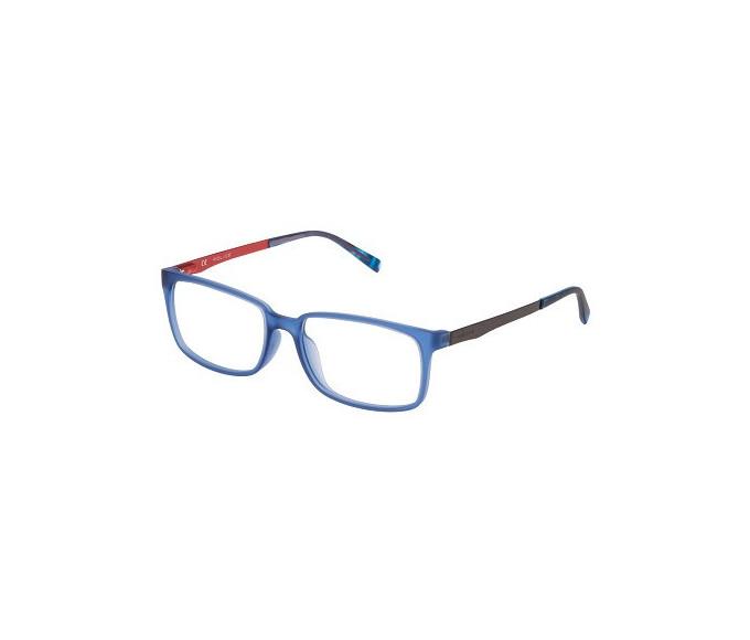 Police VPL259 Glasses in Rubber Blue