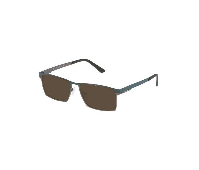 Police VPL050 Sunglasses in Semi-Matt Gunmetal