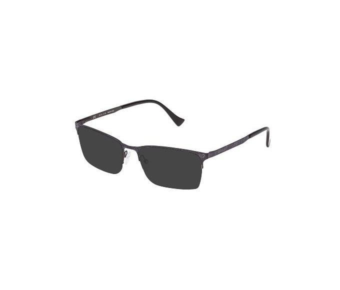 Police VPL288N Sunglasses in Black Effect Fabric Pattern