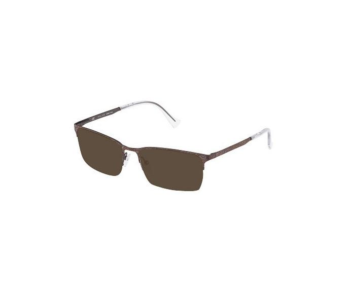 Police VPL288N Sunglasses in Brown Effect Cloth